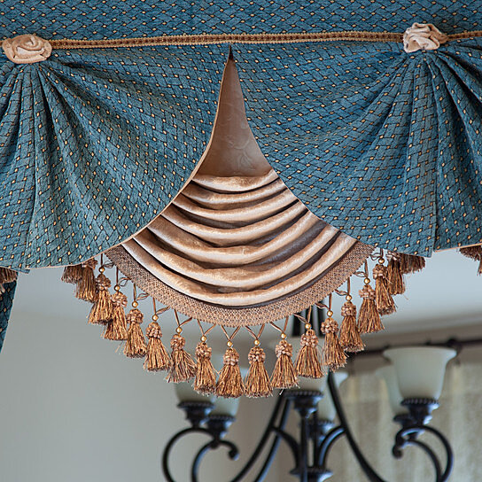 Buy Blue Salon 50 Swag And Tails Valance Curtains By Celuce Design On OpenSky