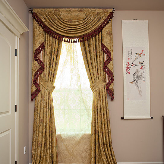 Buy Versailles Rose 50 Swag Valance Curtains by Celuce