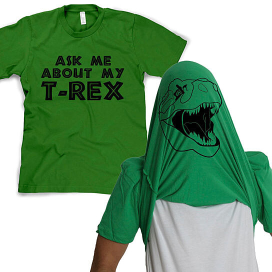 Buy Ask Me About My TRex Flip TShirt by CrazyDogTshirts