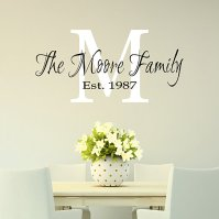 Buy Family Monogram Wall Decal - Monogram Decal by Davis ...
