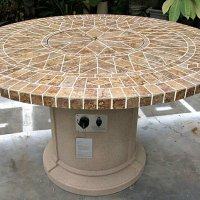 Buy GAS FIREPLACE FIRE PIT OUTDOOR PORCELAIN MOSAIC TILE ...