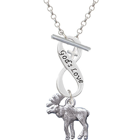 Buy Moose God's Love Infinity Toggle Necklace by Delight