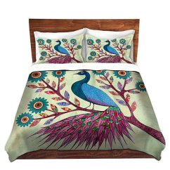 Chair Covers Designs Directions To And Linens Buy Duvet Cover Sham Set - Dianoche By Sascalia Blue Peacock ...