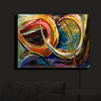 Buy Illuminated Wall Art by DiaNoche Designs Abstract ...