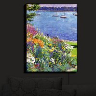 Buy Illuminated Wall Art by DiaNoche Designs Sailboat Bay ...