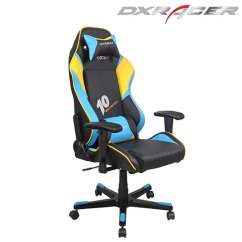 Gaming Chair On Sale Round Pad Buy Dxracer-black Blue & Yellow-high Back Leather Chair-gaming Desk Chair-modern Office Chairs ...