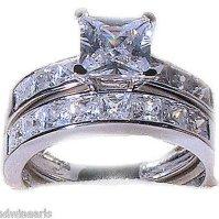 Buy 3 piece His Hers Wedding Rings Stainless Steel ...