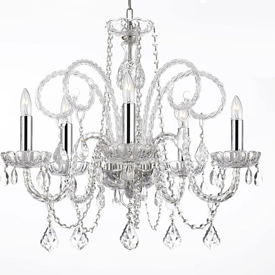 Buy Crystal Chandelier Chandeliers Lighting with Chrome