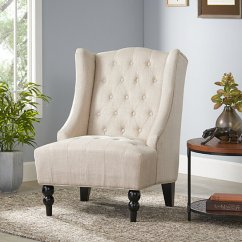 High Back Chair Covers For Sale Ice Fishing Buy Clarice Wingback Tufted Fabric Accent By Gdfstudio On Dot & Bo