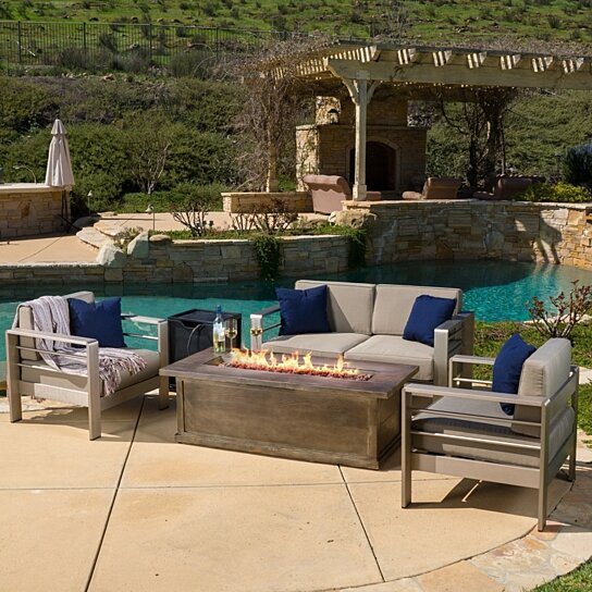 Buy Crested Bay Outdoor Aluminum 3piece Chat Set with 56