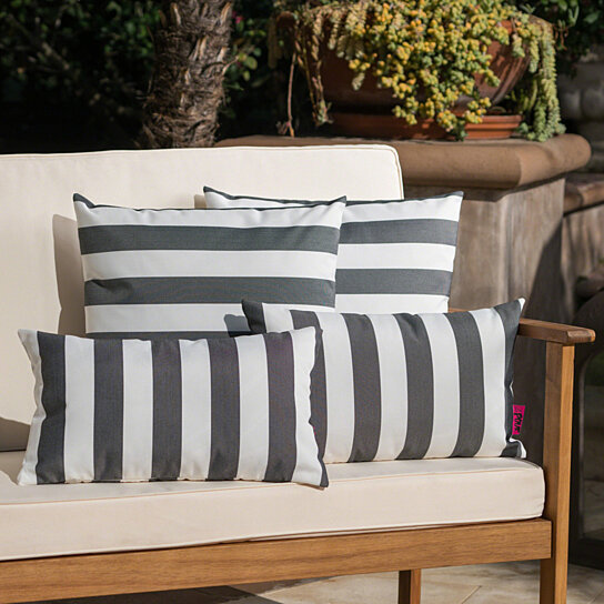 la jolla outdoor water resistant square and rectangular throw pillows set of 4