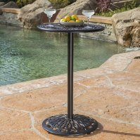 Buy Edmonson Outdoor Iron Shiny Copper Cast Bar Table by ...