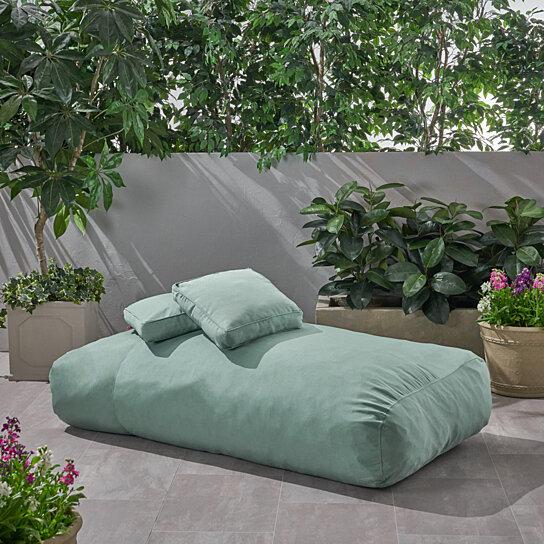 vivien outdoor water resistant 6 x3 lounger bean bag and 18