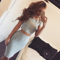 Buy Fashion Round Neck Tight Two-Piece Dress L325891 by ...