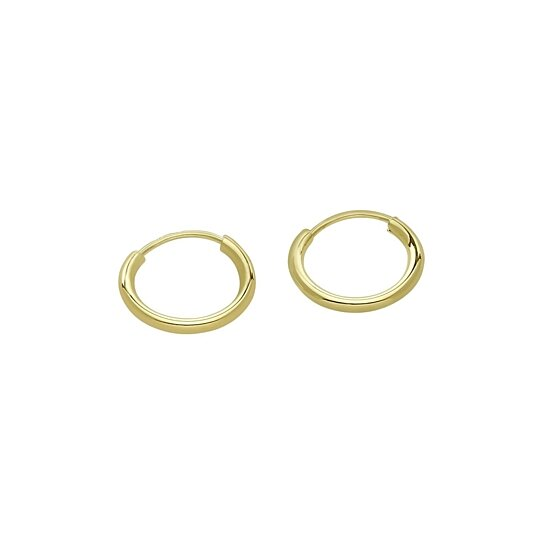 Buy 14k Yellow Gold Small Endless Hoop Earrings for Ears