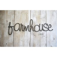 Buy Farmhouse Word Art, Metal Sign, Wall Decor by ...