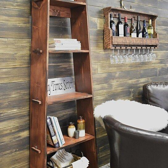 ladder shelf bookcase wood
