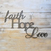 Buy Metal Wall Art Faith Hope Love by JNMRustic Designs on ...