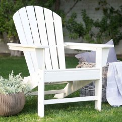 Polywood Classic Adirondack Chair Pier One Rooster Buy Outdoor All Weather Recycled White By Joybase On Dot Bo