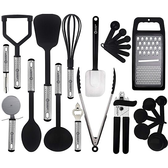 kitchen utensils set 3 piece table buy cooking 23 pieces nylon gadgets cookware sets by lux decor collection service on opensky