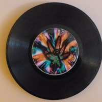 Buy Crazy Weed Recycled Vinyl Record/ CD Clock Wall Art by