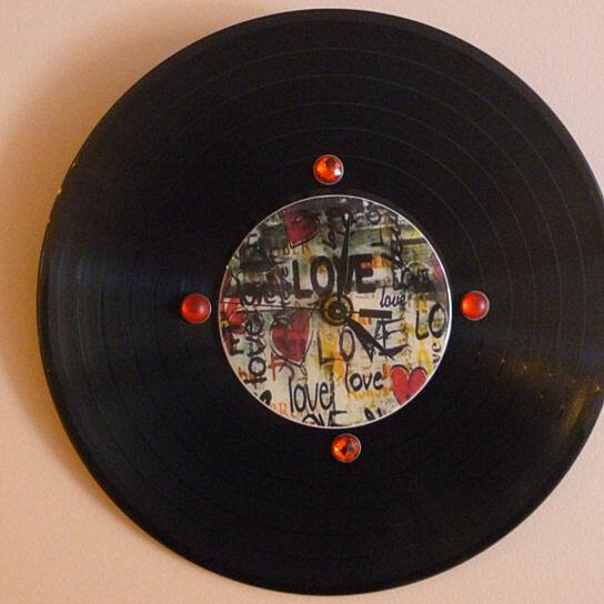 Buy Love Recycled Vinyl Record /CD Clock Wall Art by M&D