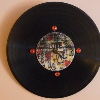 Buy Love Recycled Vinyl Record /CD Clock Wall Art by M&D