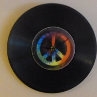 Buy Tie Dye Peace Recycled Vinyl Record/ CD Clock Wall Art