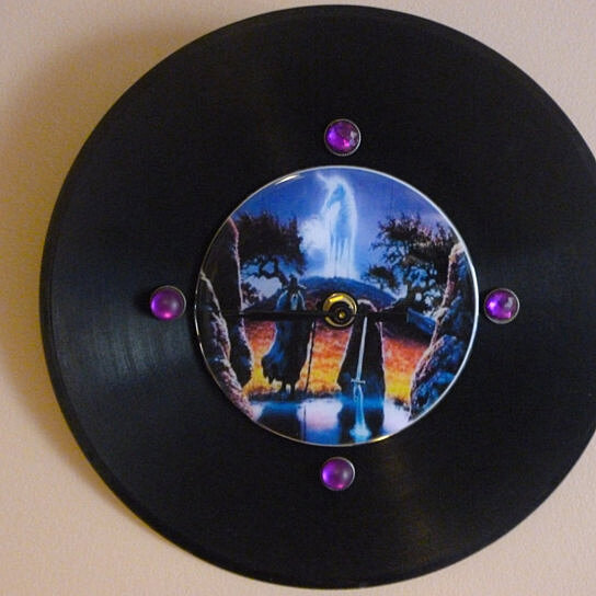 Buy Wizard/Unicorn Recycled Vinyl Record/ CD Clock Wall