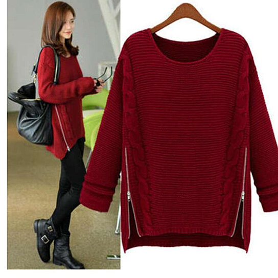 Buy Sweater For Women With Side Zipper Design By Myfashionshop On OpenSky