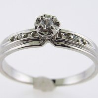 Buy Genuine Diamond Engagement Ring Promise Ring 10kt ...