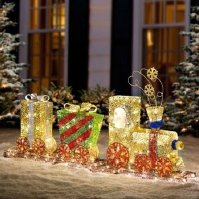 Lighted Outdoor Train Christmas Decoration | www ...