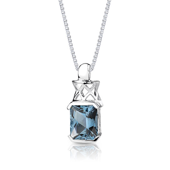 Buy 5.00 Cts Radiant Cut London Blue Topaz Pendant Style