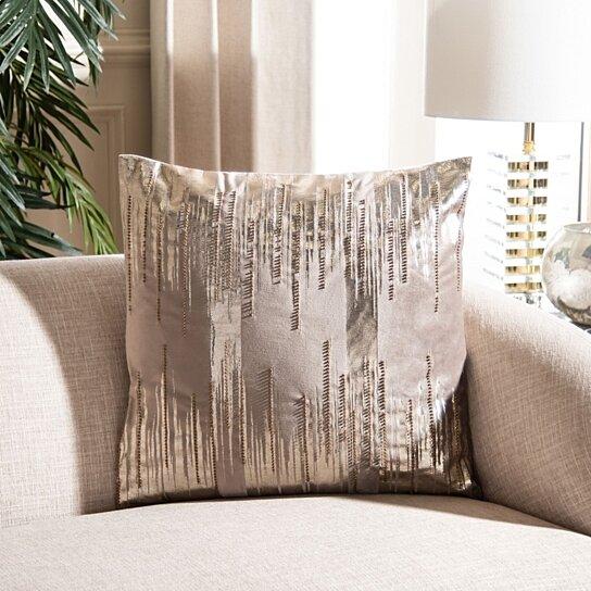 prasla pillow taupe gold