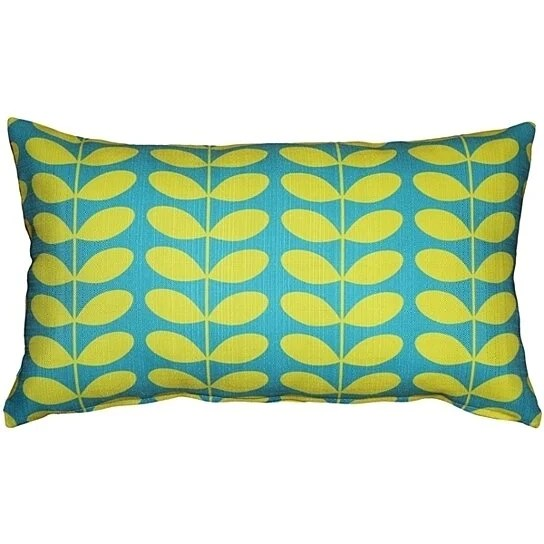 Buy Pillow Decor  MidCentury Modern Turquoise Throw