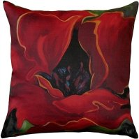 Buy Pillow Decor - Red Poppy 20x20 Throw Pillow by Pillow ...