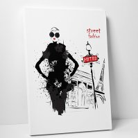 Buy London Street Fashion Wall Art Gallery Wrapped Canvas ...