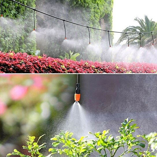 garden patio water mister air misting cooling micro irrigation system sprinkler 25m 30 dripper heads h27218 6