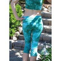 Buy Sea Foam Green Tie Dye Crop Yoga Pants by Splash Dye ...