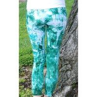 Buy Sea Foam Green Tie Dye Yoga Leggings by Splash Dye ...