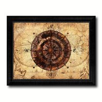 Buy Compass Vintage Nautical Old Map Canvas Print with ...