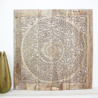 Buy Lotus Wall Panel Inlay Teak 36x36 inch w Eco White ...