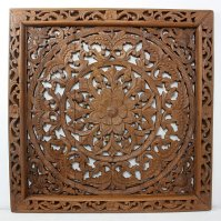 Buy Lotus Wall Panel Teak Wood Inlay Sq 90 cm (35 inch) in ...