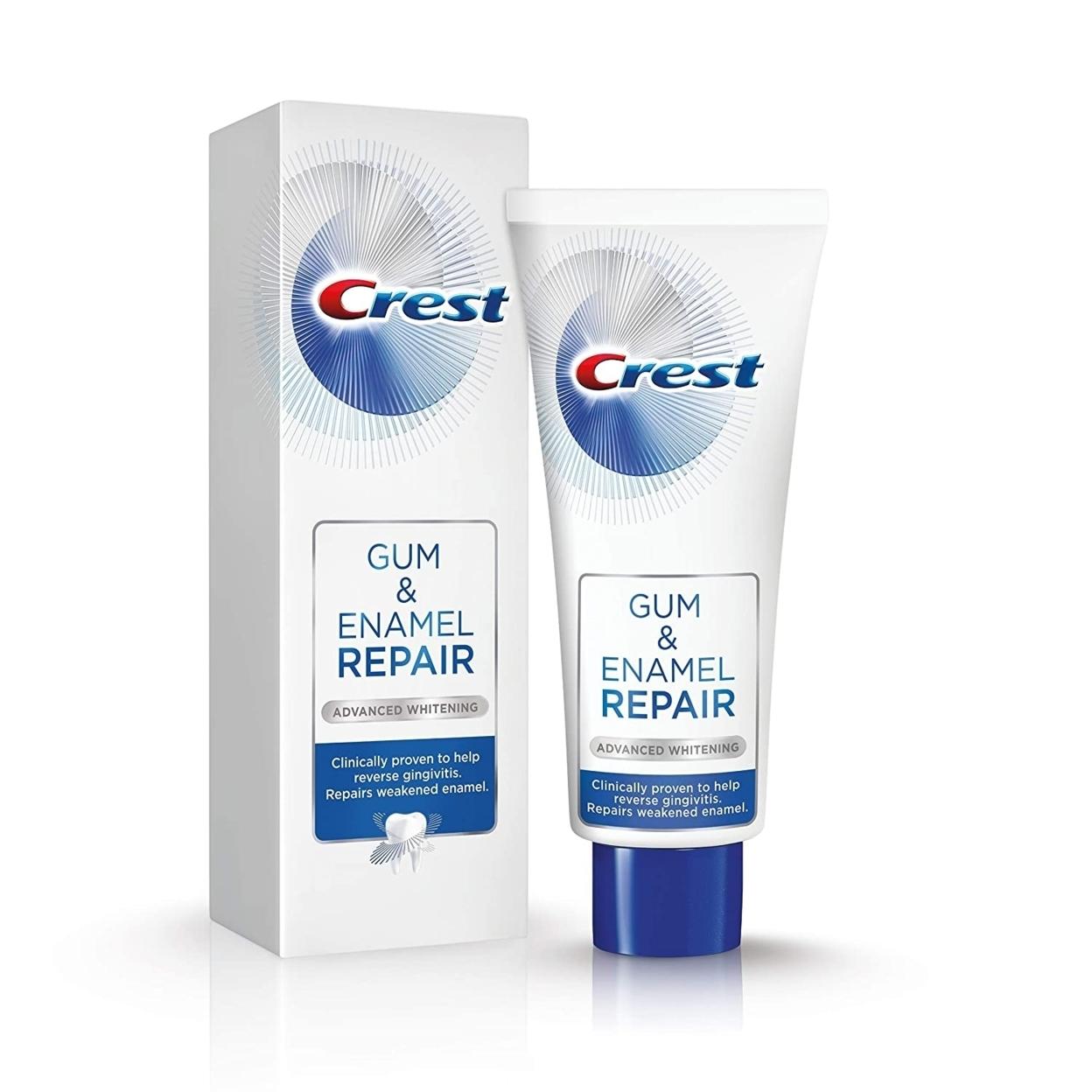 Crest Gum & Enamel Repair Advanced Whitening Fluoride ...