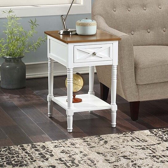 country oxford end table with charging station