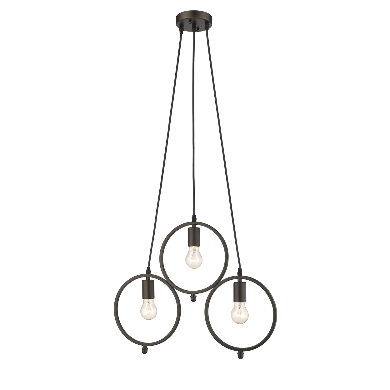 Lighting Ironclad Industrial 3 Light Rubbed Bronze Ceiling
