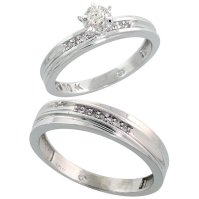 White Gold Wedding Ring Sets For Him And Her   White Gold