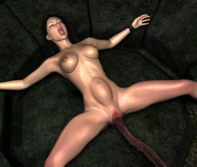 3d Alien Huge Beast With A Long Tongue Penetrated Into The Wet Pussy Girls