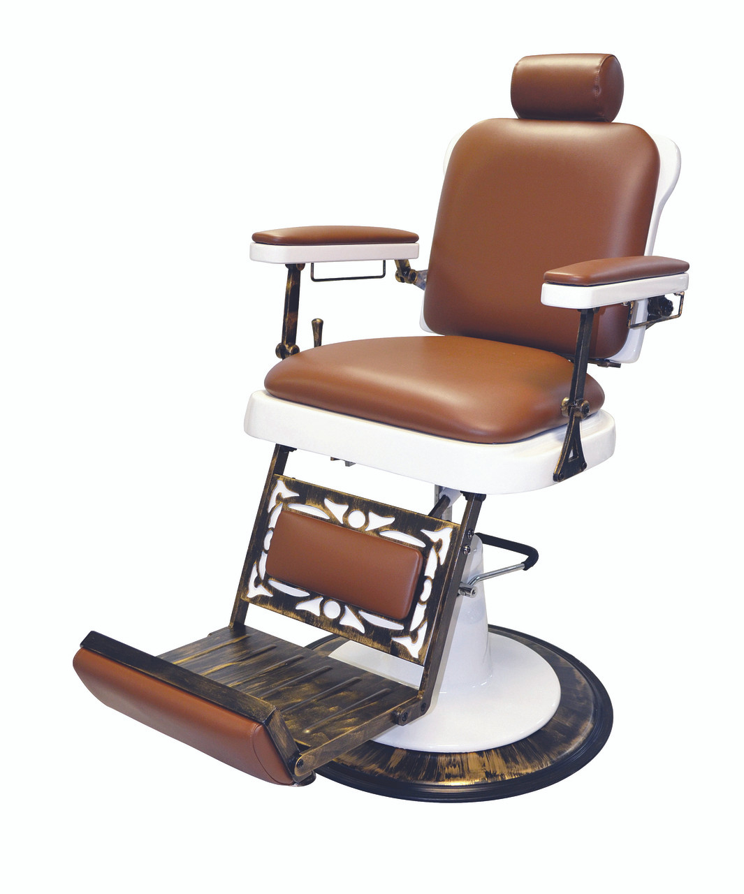 Hover Round Chairs Pibbs 662 The King Barber Chair With White Base Salonequipment