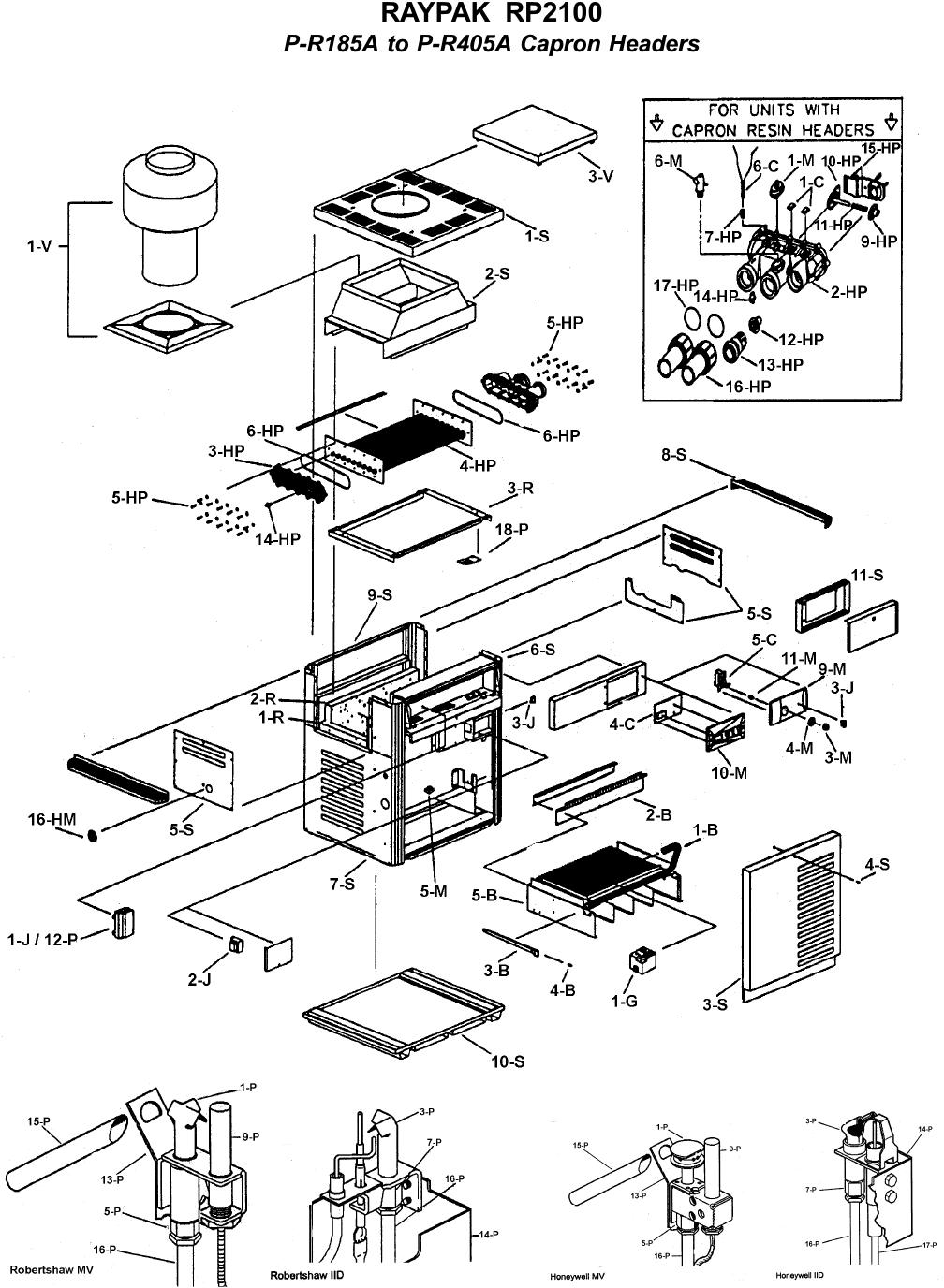 RAYPAK P-R406A-EN-C DIGITAL HEATER NATURAL GAS